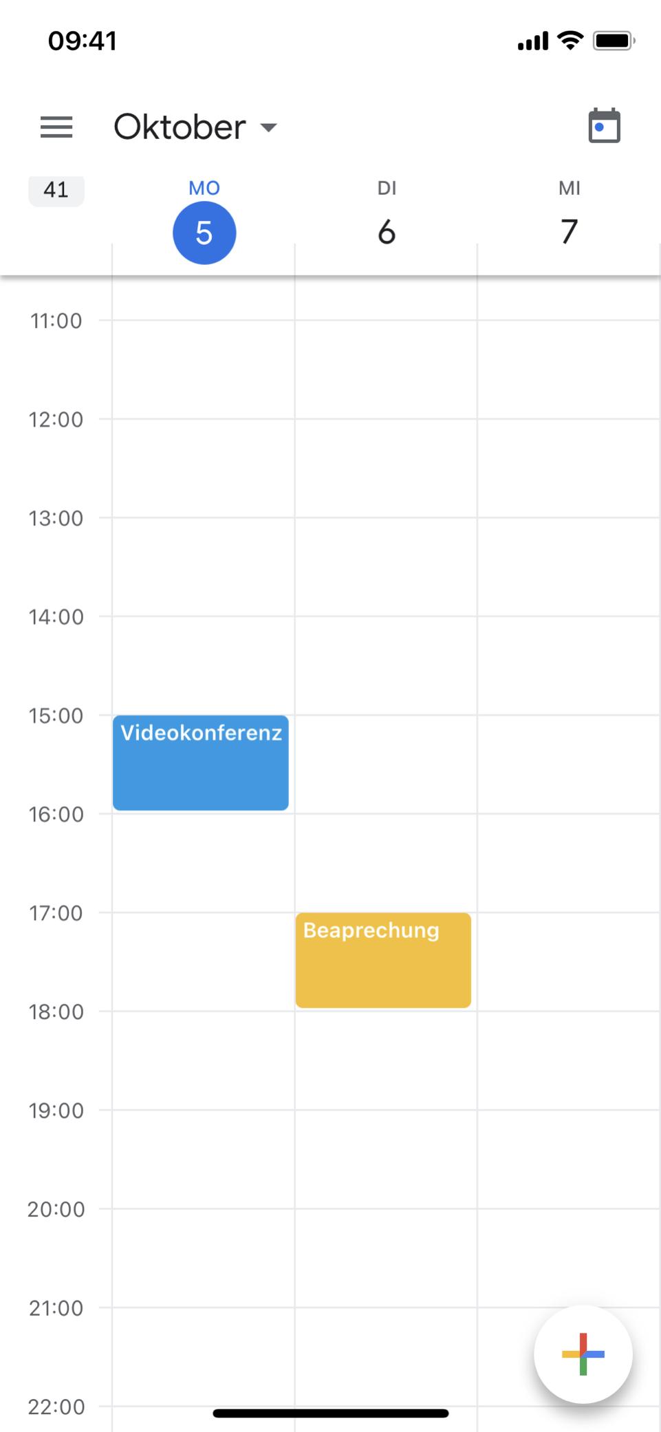 Google Calendar mobil